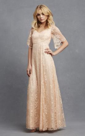 a5bab405c06fb Champagne Color Bridesmaids Dress, Beige Colored Dresses for ...