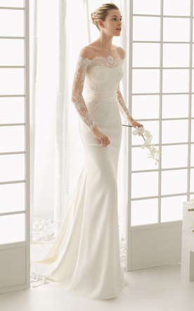 Sheath & Column Style Wedding Gowns - June Bridals
