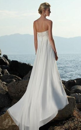 Chiffon Bridal Dresses, Grecian Wedding Gown - June Bridals