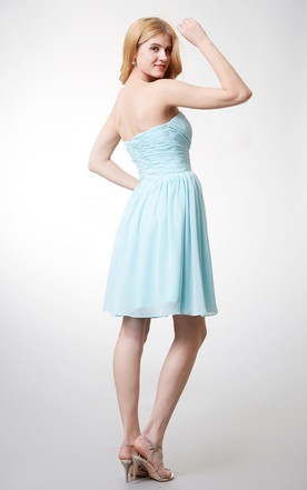 Charming Sweetheart Chiffon Dress With Ruched Bodice