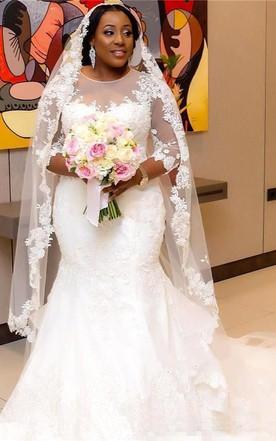 Stylish Trumpet & Mermaid Wedding Dresses with Sleeves - June Bridals