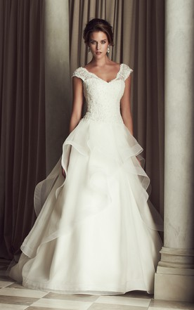 Trendy Ruffle Wedding Dress, Princess Wedding Dress - June Bridals