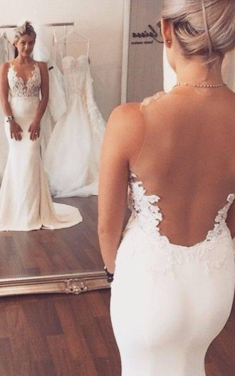 Noble sleeveless lace appliques 2016 wedding dresses for Mermaid wedding dresses on sale