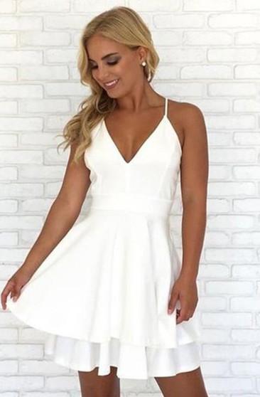 Little White Dress Short Gown