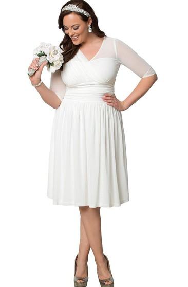 Cheap Large Size Bridal Dresses $100, Plus Figure Wedding ...