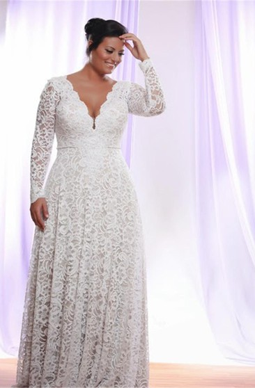 Plus Figured Vintage Bridal Dresses