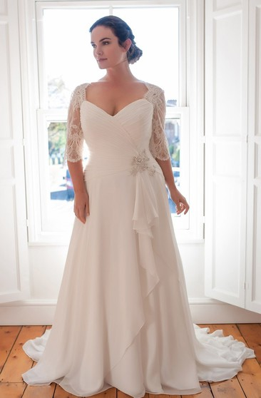 Plus Size Bridal Gowns With Short/Long Sleeves | Full ...