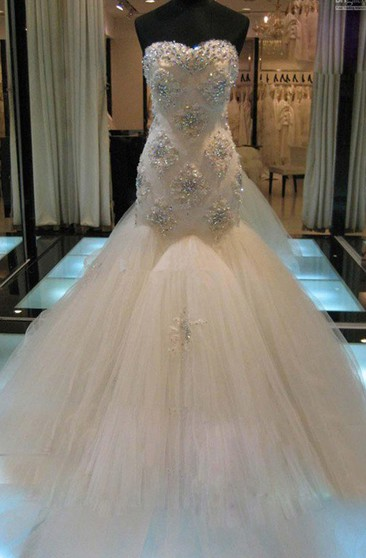 Wedding Dress With Beaded Bling