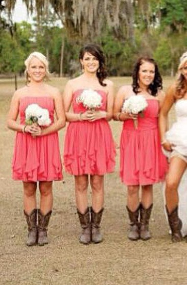 dependable performance best selling many styles Country & Rustic Bridesmaids Dresses, Western Style Dress ...