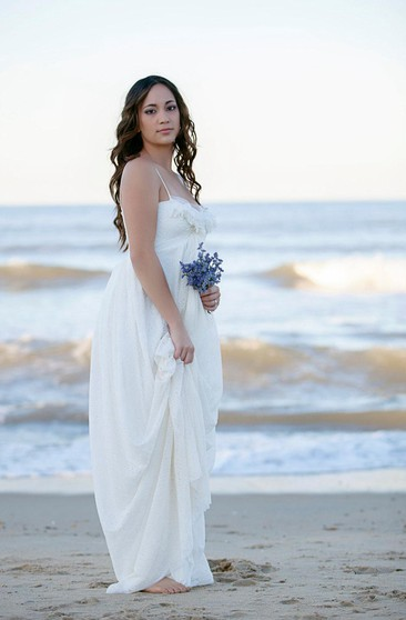 Plus Figure Beachy Wedding Gowns, Beach Large Size Bridals ...
