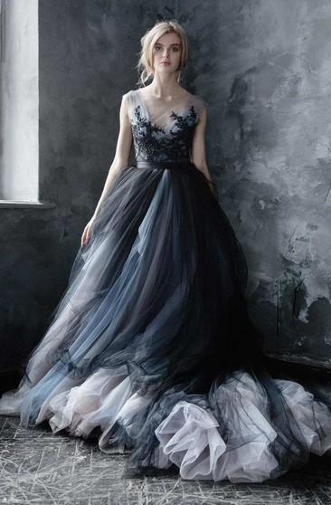 Grey Wedding Dress.Grey Silver Wedding Dresses June Bridals
