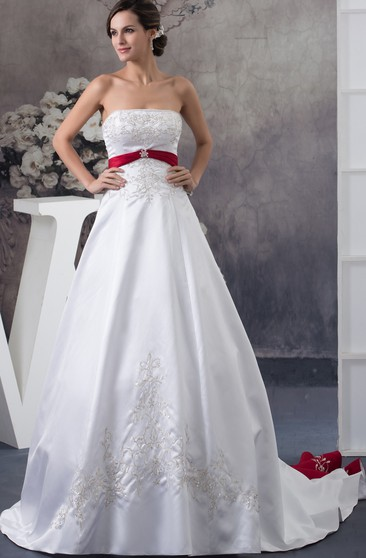 Red And White Wedding Dresses.White And Red Wedding Dress Cheap Long More June Bridals