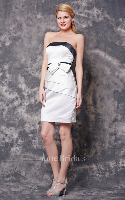 Sleeveless Ruched Short Satin Dress With Backless