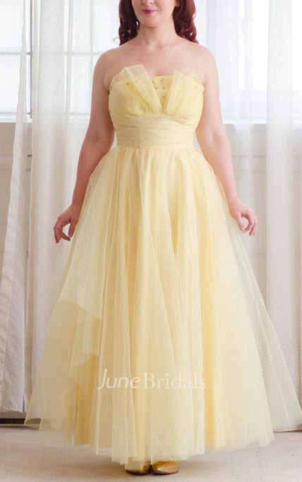 12956b75081 50S Tulle Vintage 1950S Prom Honeysuckle Prom Dress - June Bridals