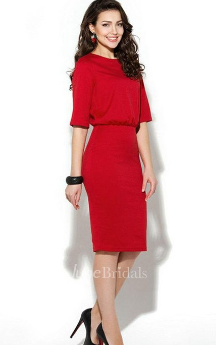 Half Sleeve Pencil Dress