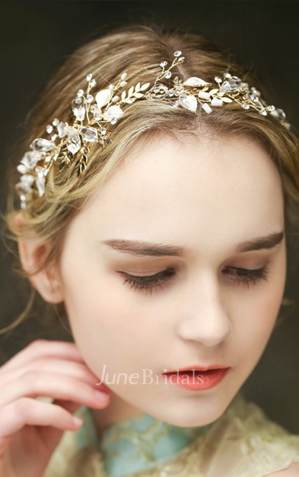 Western Style Bride Crystal Diamond Fresh Headdress