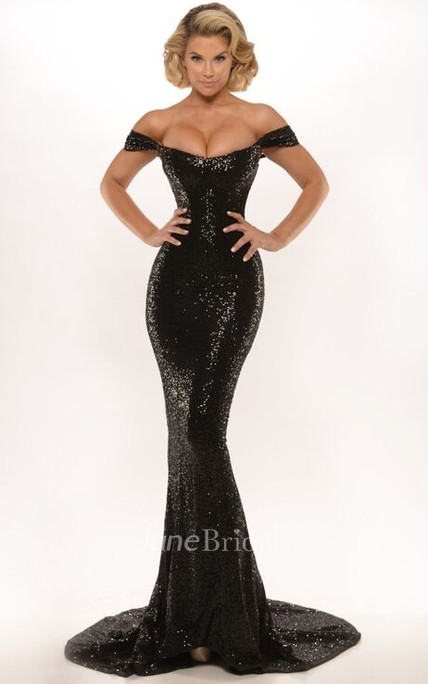 Sheath Appliqued Floor-Length Sleeveless High Neck Jersey Prom Dress With Backless Style And Sweep Train