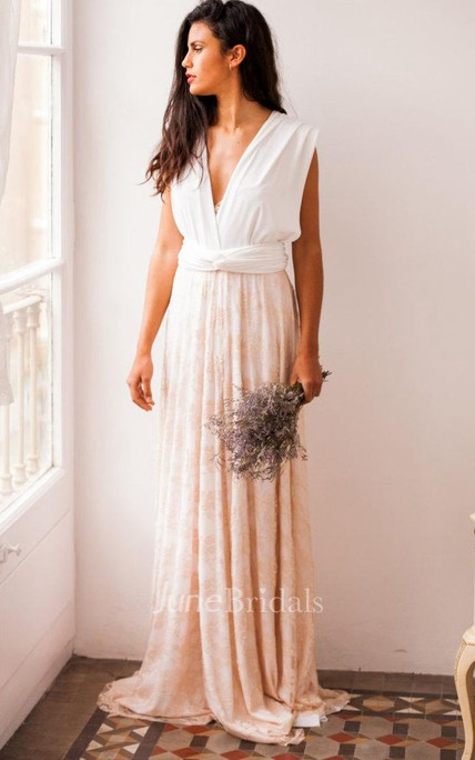 Rustic Rose Quartz Wedding Rose Gold Lace Wedding Gown Lace Bridal ...