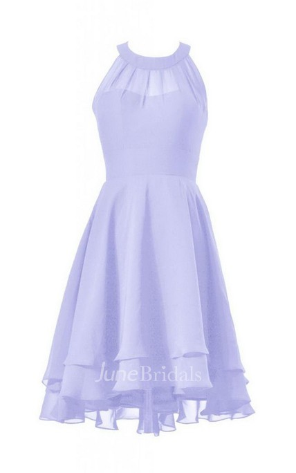Exquisite Jewel Chiffon Short Dress With Tieres