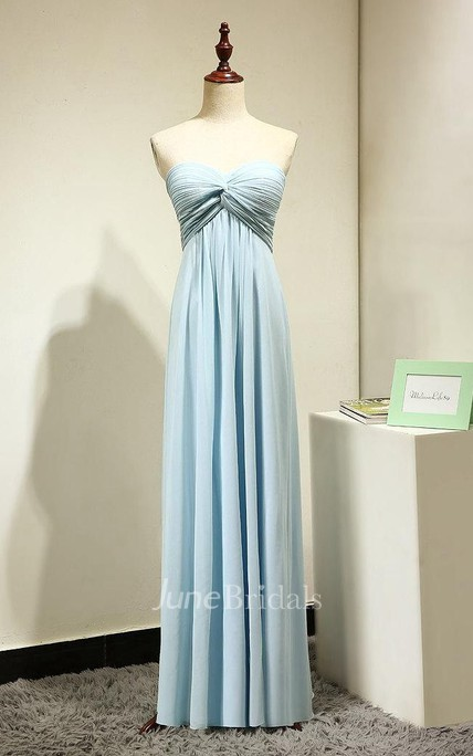 918bd1bb8158 Sweetheart Chiffon Long Bridesmaid Dress - June Bridals
