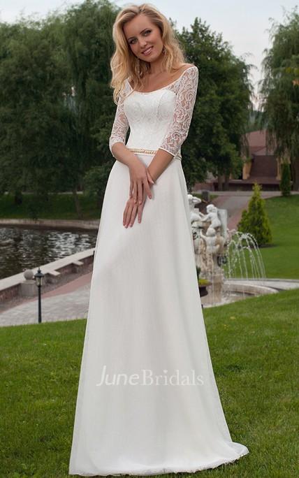 3 4 Sleeve Wedding Dresses