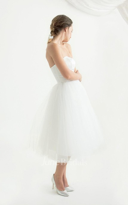 0123cf54e0 Strapped Tulle Lace Satin Weddig Dress With Corset Back - June Bridals