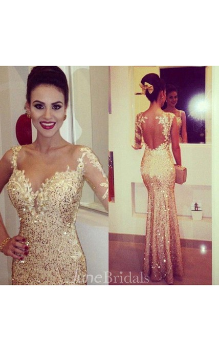 Gorgeous Sequined Mermaid Evening Dresses Sweetheart Appliques Floor Length Prom Gowns