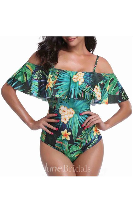 Rainforest Off the Shoulder Swimsuit