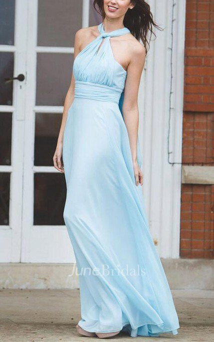 Matchimony Multiway Long Convertible Bridesmaid Made In Silk And ...