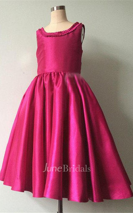 Sleeveless Taffeta Dress With Backless