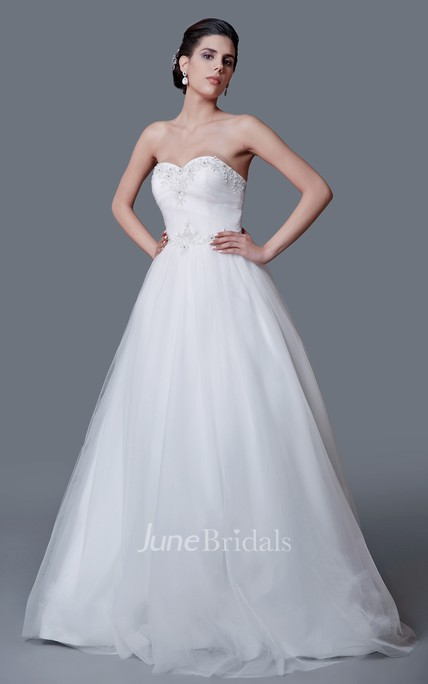 Vibrant Sweetheart Beaded Top Ball Gown