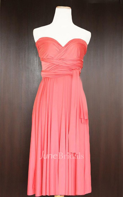 b47dac1841e Short Coral Infinity Multiway Convertible Wrap Dress - June Bridals