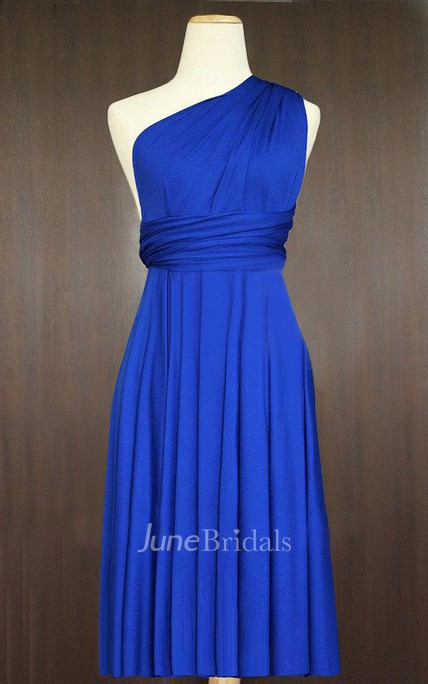 04e5cb38a3c Short Cobalt Blue Infinity Multiway Bridesmaid Convertible Wrap Dress - June  Bridals