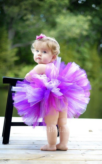 Lovely purple white tulle flower girl dress with ruffles june bridals lovely purple white tulle flower girl dress with ruffles mightylinksfo