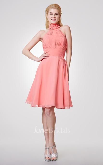 Knee-Length Chiffon Dress
