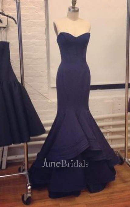 1b168751fb Elegant Navy Blue Evening Gowns Dresses Prom Sweetheart Designer Womens  Party - June Bridals