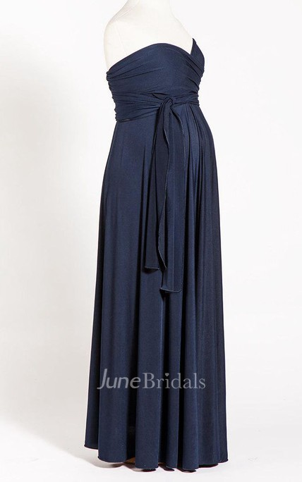 c65f81c22b499 Navy Blue Infinity Long Maternity Dress - June Bridals