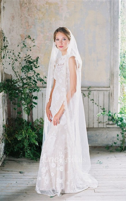 Single Layer Simple Beautiful Bride Wedding Eyelash Lace Veil