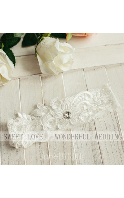 Western Style Selling Simple Sweet Style Lace Elastic Bride Garter Within 16-23inch