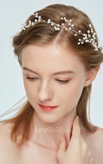 Super Fairy Ribbon White Crystal Hairband