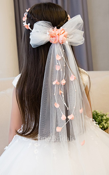 a88f54918 Princess Style Garland Headdress Tulle Flower Girl Accessories - June  Bridals