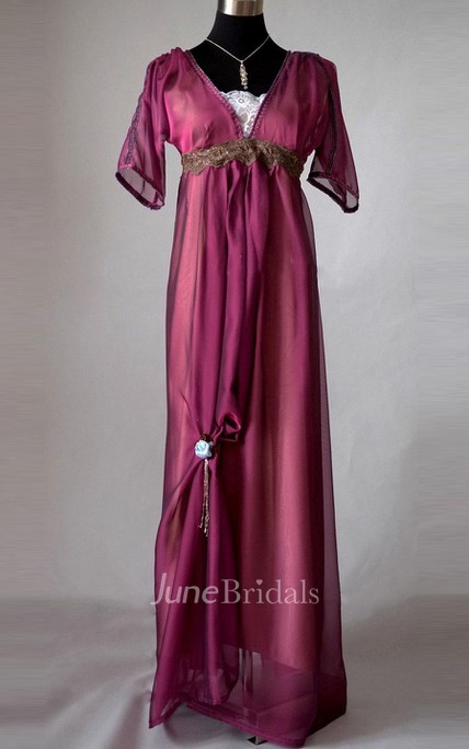 Edwardian Purple Evening Handmade In England Downton Abbey Inspired Titanic 1912 Styled Dress