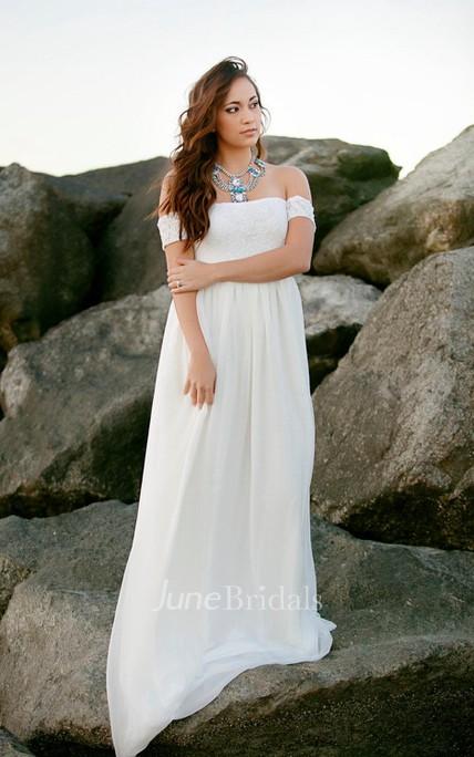 Wedding Lace And Chiffon Babydoll Wedding Gown Bohemian Dress - June ...