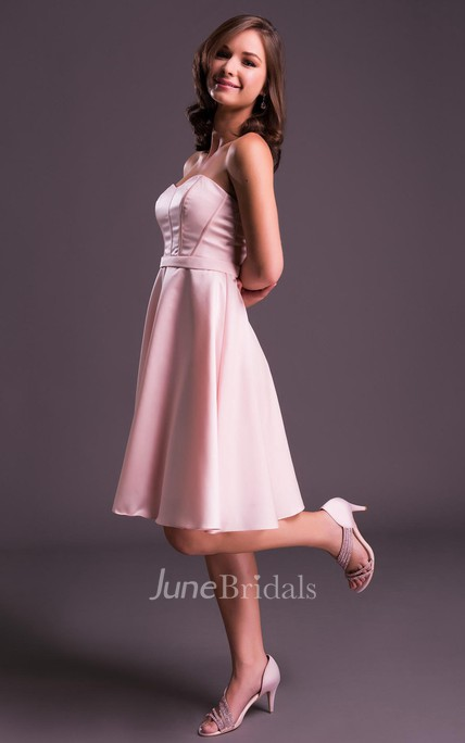 A-Line Sleeveless Sweetheart Mini Prom Dress