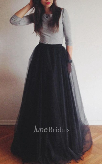 Floor-length Tulle&Organza Dress