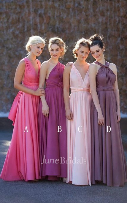 Newest A-line Sleeveless 2018 Bridesmaid Dress Floor-length High Quality