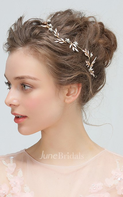 Golden Flower Headband Hairpin Hair Kit