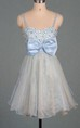 Short Tulle&Satin Dress With Bow