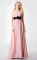 Sleeveless Floral Backless A-line Ruched Long Chiffon Dress