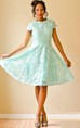 Short Mint Lace A Line With Diamond Back Custom Bridesmaid Reception Dress
